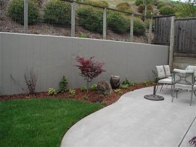 Broomed Color Concrete Patio